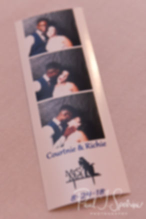 A look at a photo booth strip during Courtnie and Richardson's August 2018 wedding reception at Emerald Hall in Abington, Massachusetts.