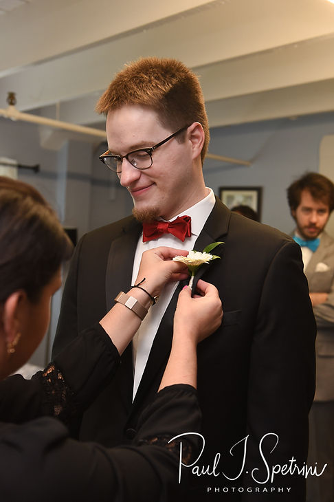 Rhodes on the Pawtuxet Wedding Photography, Groom Prep Photos