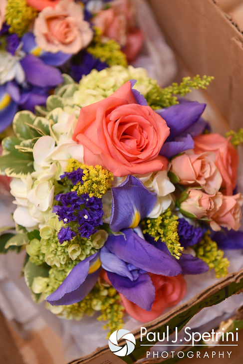 A look at the flowers at Michelle and Eric's May 2016 wedding at Hillside Country Club in Rehoboth, Massachusetts.