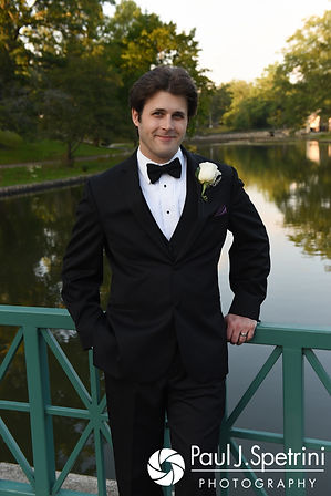 Len poses for a photo following his September 2017 wedding ceremony at the Roger Williams Park Casino in Providence, Rhode Island.