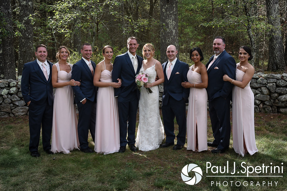 A look at Kim and Matt's wedding party prior to their August 2016 wedding at Whispering Pines Conference Center in West Greenwich, Rhode Island.