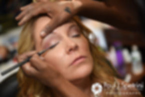 Michelle has her makeup done prior to her May 2016 wedding at Hillside Country Club in Rehoboth, Massachusetts.