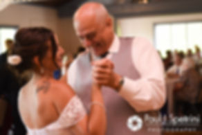 Heather dances with her father during her July 2016 wedding reception at Crystal Lake Golf Club in Burrillville, Rhode Island.