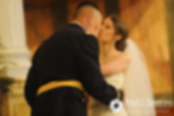 Dan and Simonne share a kiss during their June 2016 wedding in Providence, Rhode Island.