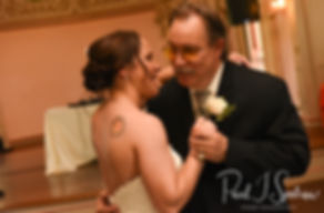 Danielle and her father dance during her August 2018 wedding reception at the Roger Williams Park Casino in Providence, Rhode Island.
