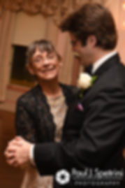 Len and his mother dance during his September 2017 wedding reception at the Roger Williams Park Casino in Providence, Rhode Island.