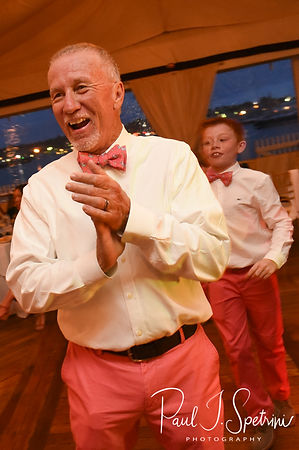 Mike laughs during his May 2018 wedding reception at Regatta Place in Newport, Rhode Island.