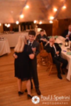 Jeremy and his mom dance during his May 2016 wedding reception at Bittersweet Farm in Westport, Massachusetts.