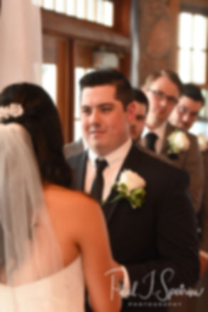Dan smiles during his September 2018 wedding ceremony at The Towers in Narragansett, Rhode Island.