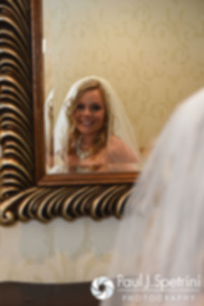 Michelle poses for a photo prior to her May 2016 wedding at Hillside Country Club in Rehoboth, Massachusetts.