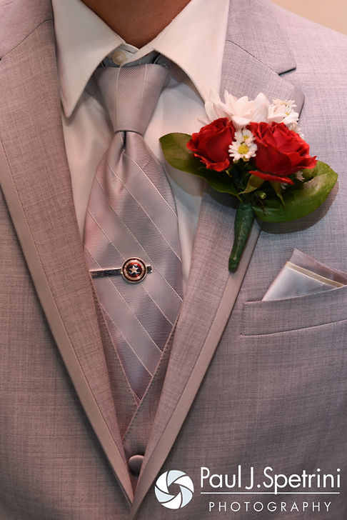 A look at John's suit prior to his July 2016 wedding at Crystal Lake Golf Club in Burrillville, Rhode Island.