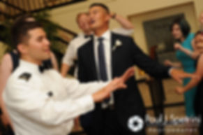 Guests dance during Dan and Simonne's June 2016 wedding in Providence, Rhode Island.