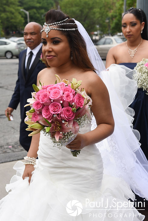Lucelene steps out of the limo prior to her June 2017 wedding ceremony at Waterplace Park in Providence, Rhode Island.