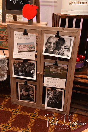 A look at the details on display prior to Robin & Rick's August 2018 wedding reception at Twelve Acres in Smithfield, Rhode Island.