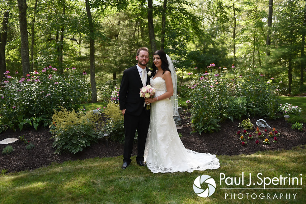 Justin and Lauryn pose for a photo following their July 2016 wedding at St. Paul the Apostle Catholic Church in Foster, Rhode Island.