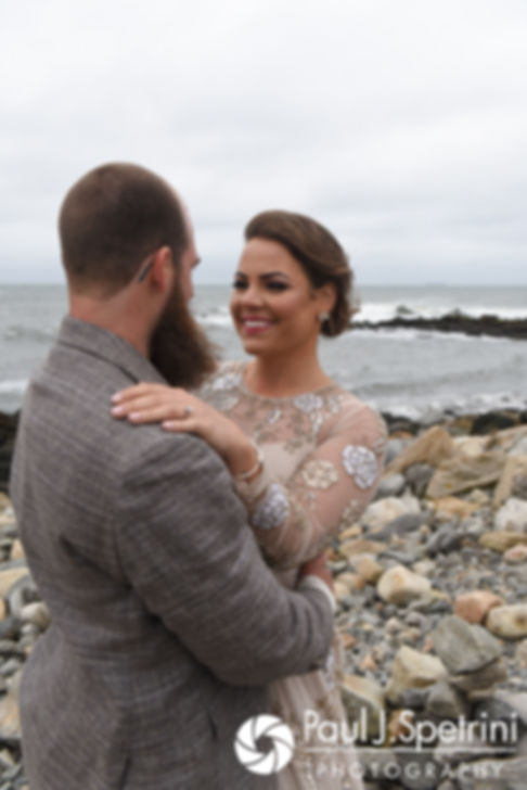 Gary and Arielle pose for formal photos prior to their September 2017 wedding ceremony at North Beach Club House in Narragansett, Rhode Island.