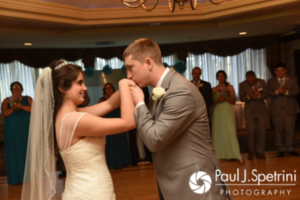 Neil and Gianna dance during their July 2017 wedding reception at Quidnessett Country Club in North Kingstown, Rhode Island.
