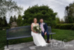 Ali & Gary pose for a formal photo prior to their May 2018 wedding ceremony at the Roger Williams Park Botanical Center in Providence, Rhode Island.