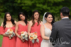 Stephanie looks at Jacob during her June 2018 wedding ceremony at Foster Country Club in Foster, Rhode Island.