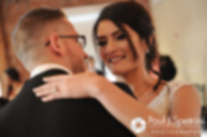 Maria and Sebastian dance at their March 2016 wedding reception at Falores Restaurant in Pawtucket, Rhode Island.