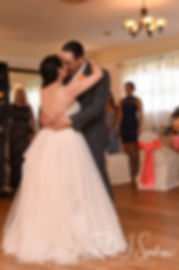 Jacob & Stephanie dance during their June 2018 wedding reception at Foster Country Club in Foster, Rhode Island.