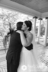 Allison and Len share a first look prior to their September 2017 wedding ceremony at the Roger Williams Park Casino in Providence, Rhode Island.