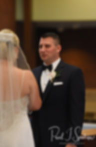 Brian says his vows during his September 2018 wedding ceremony at Immaculate Conception Church in Cranston, Rhode Island.