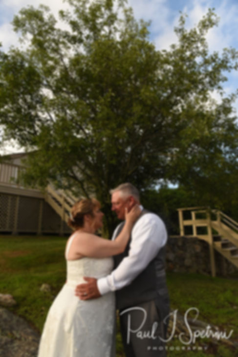 Robin & Rick pose for a formal photo following their August 2018 wedding ceremony at Twelve Acres in Smithfield, Rhode Island.