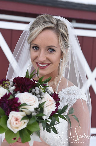 Nicole poses for a portrait prior to her November 2018 wedding ceremony at the Publick House Historic Inn in Sturbridge, Massachusetts.