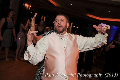 Adam dances at his fall wedding at Quidnessett Country Club in North Kingstown, Rhode Island on October 23rd, 2015.