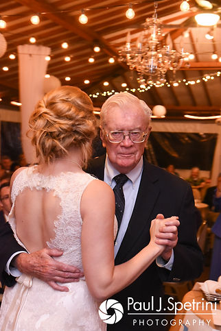 Rachel and her grandfather dance during her October 2017 wedding reception at Castle Manor Inn in Gloucester, Massachusetts.