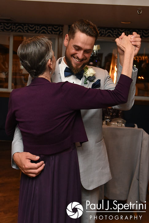 Robert and his mother dance during his September 2017 wedding reception at Oceanside at the Pier in Narragansett, Rhode Island.