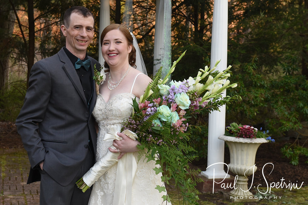 Nate & Kaytii pose for a formal photo following their May 2018 wedding ceremony at Meadowbrook Inn in Charlestown, Rhode Island.