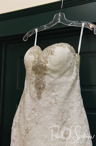 A look at Kendra's dress prior to her May 2018 wedding ceremony at Crystal Lake Golf Club in Mapleville, Rhode Island.