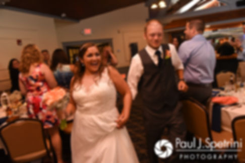 Toni and Scott are introduced during their August 2017 wedding reception at Crystal Lake Golf Club in Mapleville, Rhode Island.