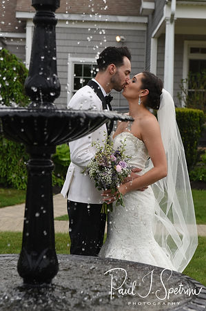 Kendra & Joe pose for a formal photo following their May 2018 wedding ceremony at Crystal Lake Golf Club in Mapleville, Rhode Island.