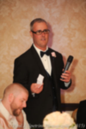 Adam's best man gives a speech at his fall wedding at Quidnessett Country Club in North Kingstown, Rhode Island on October 23rd, 2015.
