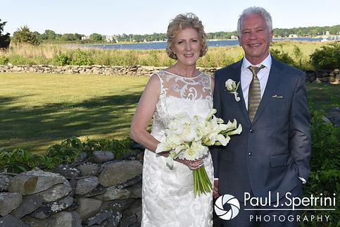 Bob and Debbie smile for a photo following their June 2016 wedding in Barrington, Rhode Island.