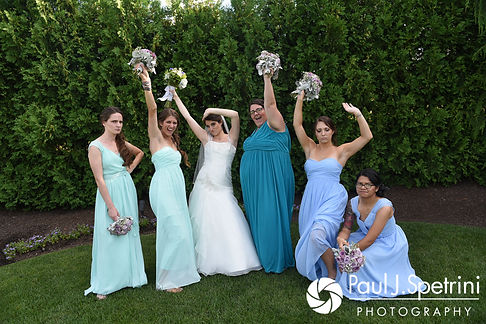 Gianna poses for a photo with her bridesmaids prior to her July 2017 wedding reception at Quidnessett Country Club in North Kingstown, Rhode Island.