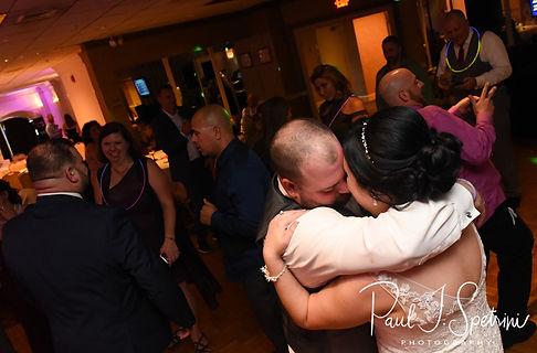 Justine & Jon dance during their October 2018 wedding reception at Twelve Acres in Smithfield, Rhode Island.