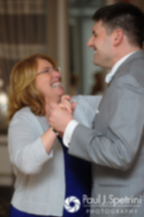 Shawn and his mother share a dance at his spring 2016 Rhode Island wedding at the Hotel Viking in Newport, Rhode Island.