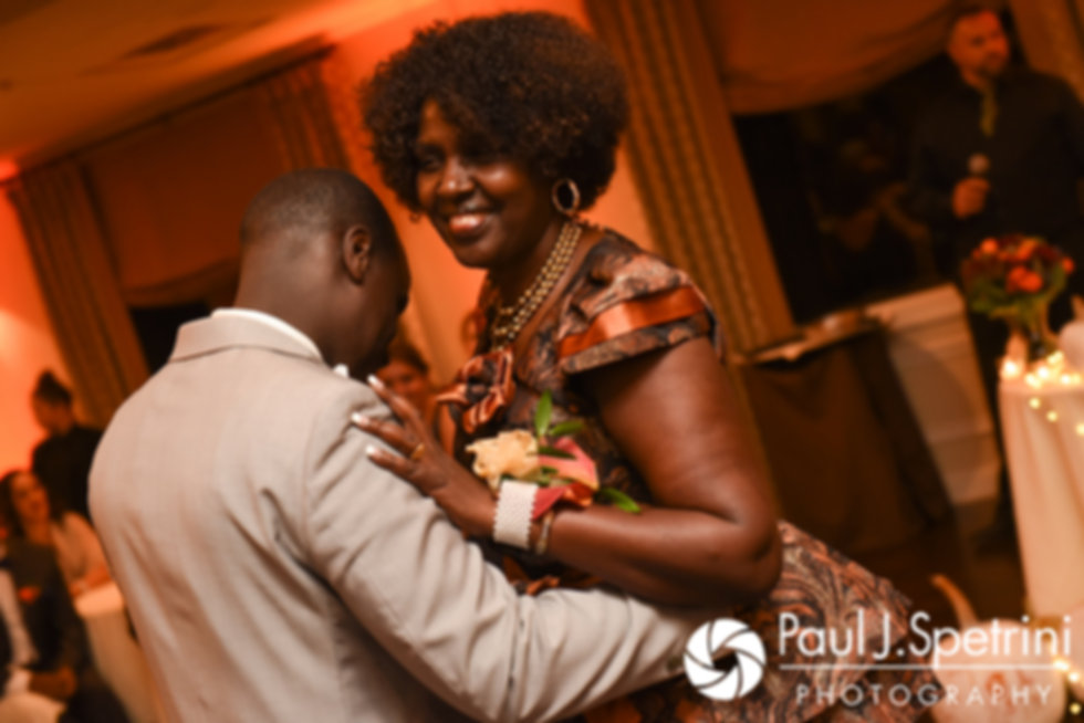 Kevin and his mother dance during his October 2017 wedding reception at the Villa Ridder Country Club in East Bridgewater, Massachusetts.