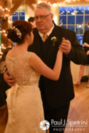 Ellen and her dad dance during her May 2016 wedding reception at Bittersweet Farm in Westport, Massachusetts.