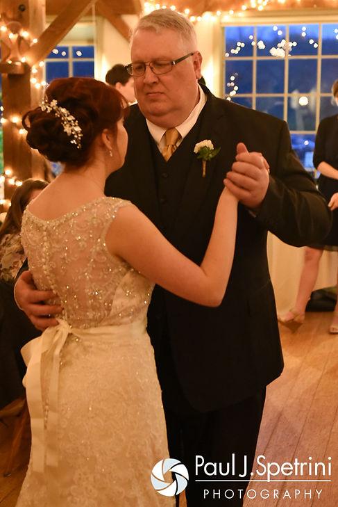Ellen and her dad dance during her May 2016 wedding reception at Bittersweet Farm in Westport, Massachusetts.