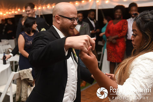 Forrester and Lisajean dance during their October 2016 wedding reception in Charlestown, Rhode Island.
