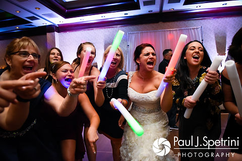 Nicky rocks out to Paradise by the Dashboard during her September 2017 wedding reception at the Crowne Plaza Hotel in Warwick, Rhode Island.
