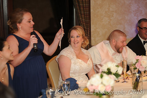 Kerry's maid of honor gives a speech at her fall wedding at Quidnessett Country Club in North Kingstown, Rhode Island on October 23rd, 2015.