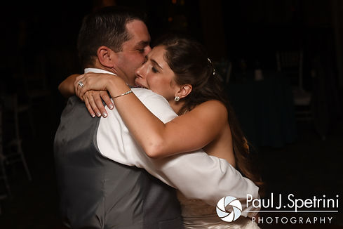 Marissa and Paul dance during their September 2016 wedding reception at the Aqua Blue Hotel in Narragansett, Rhode Island.