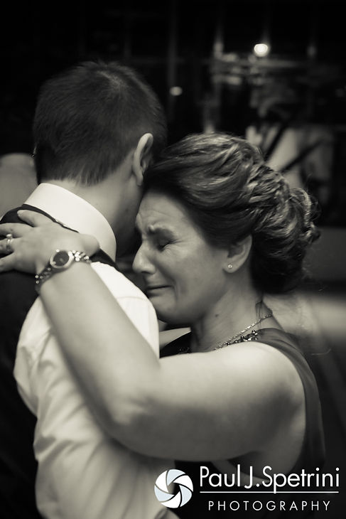 Kyle and his mother dance during his September 2016 wedding reception at the Roger Williams Park Botanical Center in Providence, Rhode Island.