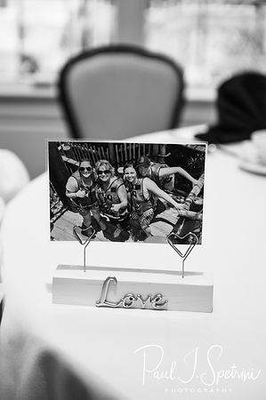A look at some of the decorations on display A look at the place cards prior to Laura & Marijke's June 2018 wedding ceremony at Independence Harbor in Assonet, Massachusetts.